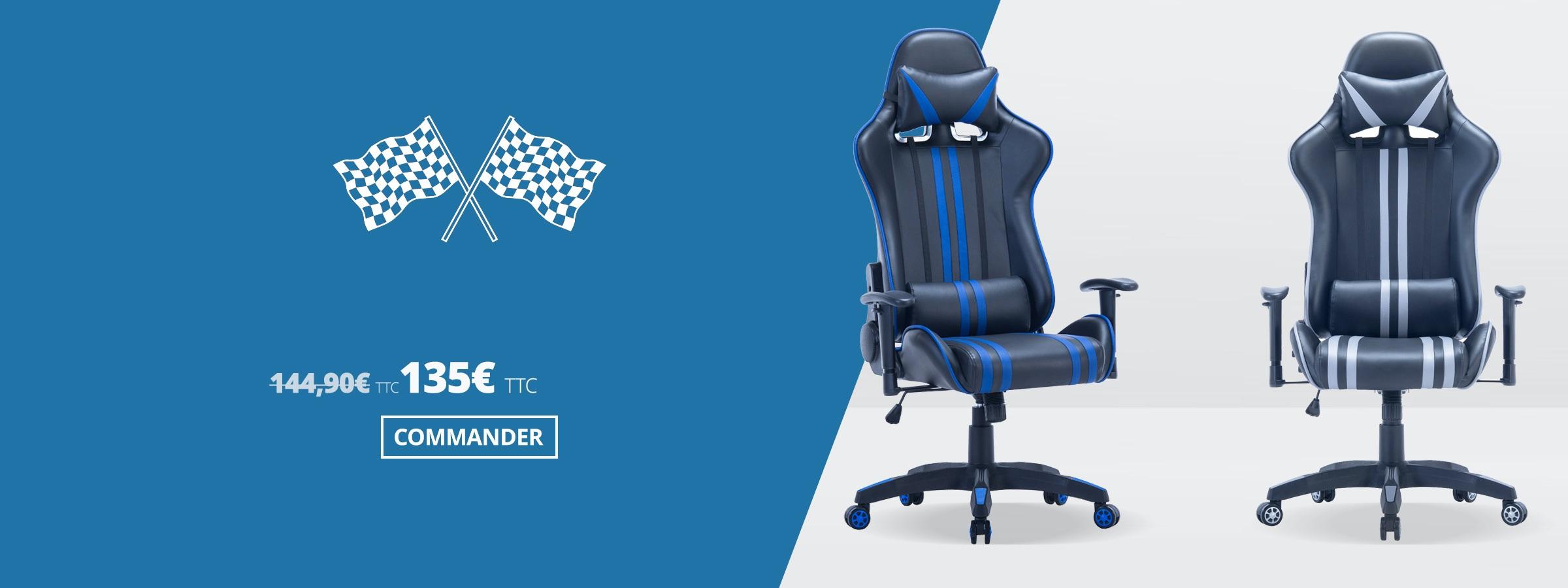 Fauteuil de Bureau Racing ONE – Chaise Bureau GAMER