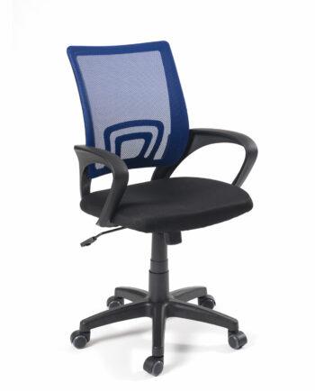 Chaise de bureau FLAG - Fauteuil de bureau pas cher - Bleu et noir - Kayelles