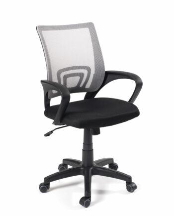 Chaise de bureau FLAG - Fauteuil de bureau pas cher - Gris et noir - Kayelles