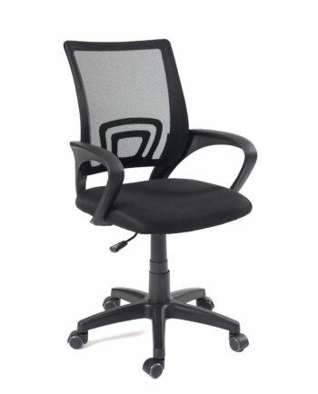 Chaise de bureau FLAG - Fauteuil de bureau pas cher - Noir - Kayelles