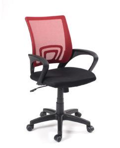 Chaise de bureau FLAG - Fauteuil de bureau pas cher - Rouge et noir - Kayelles