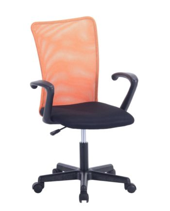 Chaise de Bureau Étudiant avec accoudoirs LASER Orange