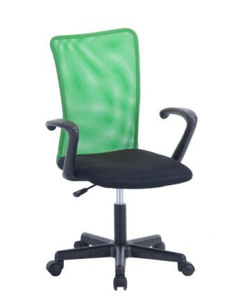 Chaise de Bureau Étudiant avec accoudoirs LASER Vert