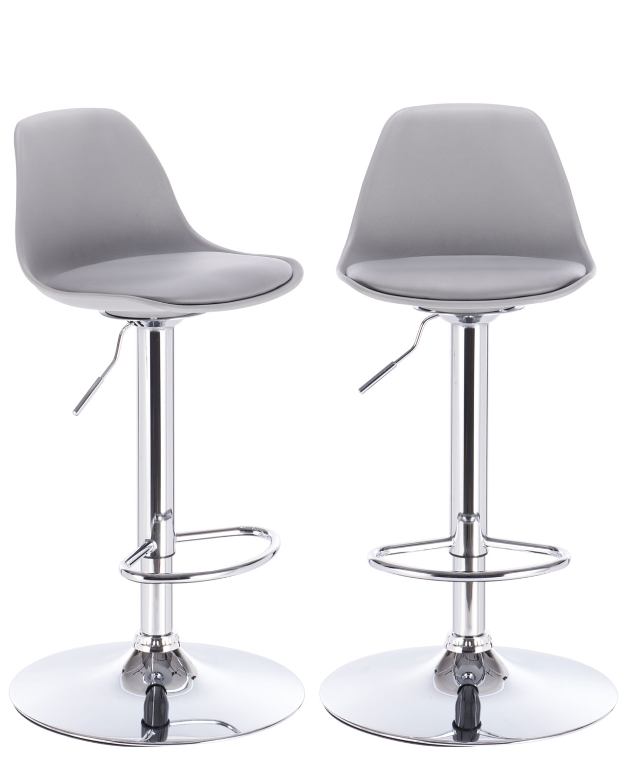 lot de 2 tabourets bar design sig gris clair cuisine kayelles - Tabouret Bar Design