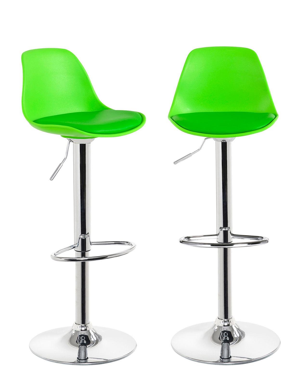 sig lot de 2 tabourets de bar design vert. Black Bedroom Furniture Sets. Home Design Ideas
