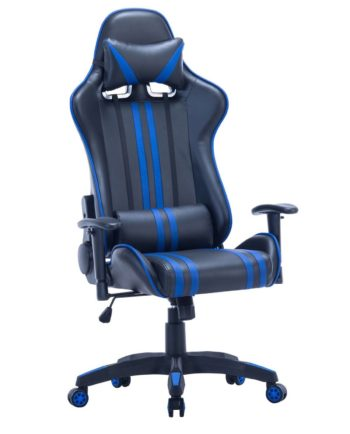 Fauteuil de Bureau Racing - Gaming Chair Bleu - ONE