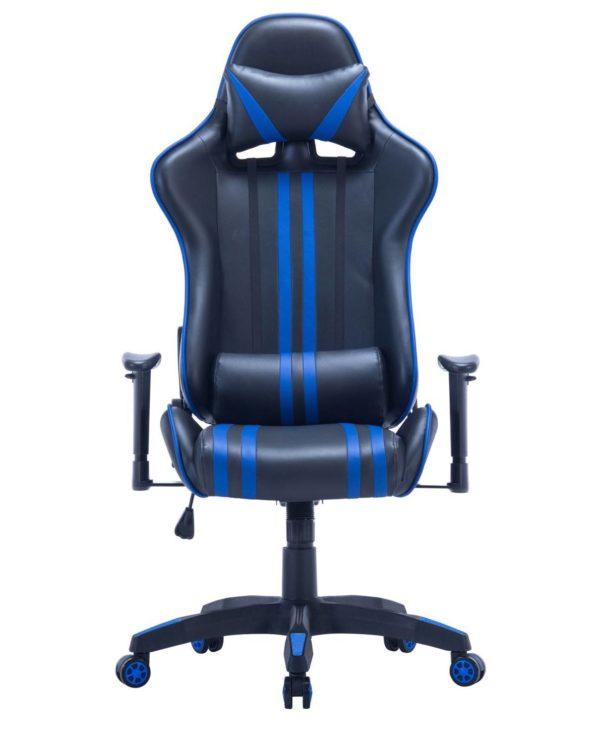 Chaise Gamer - Fauteuil de Bureau Racing Bleu - LAONE