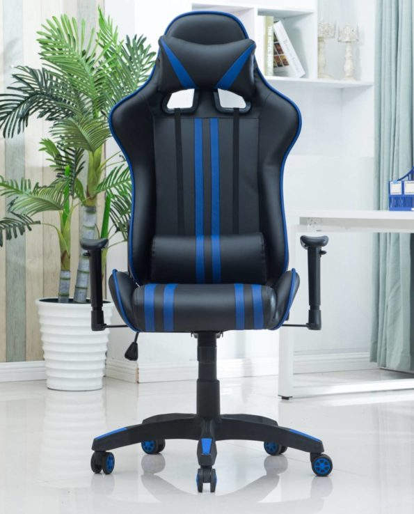 Siege Baquet de Bureau Racing Gamer - Chaise racing - Gaming Chair - Bleu - LAONE