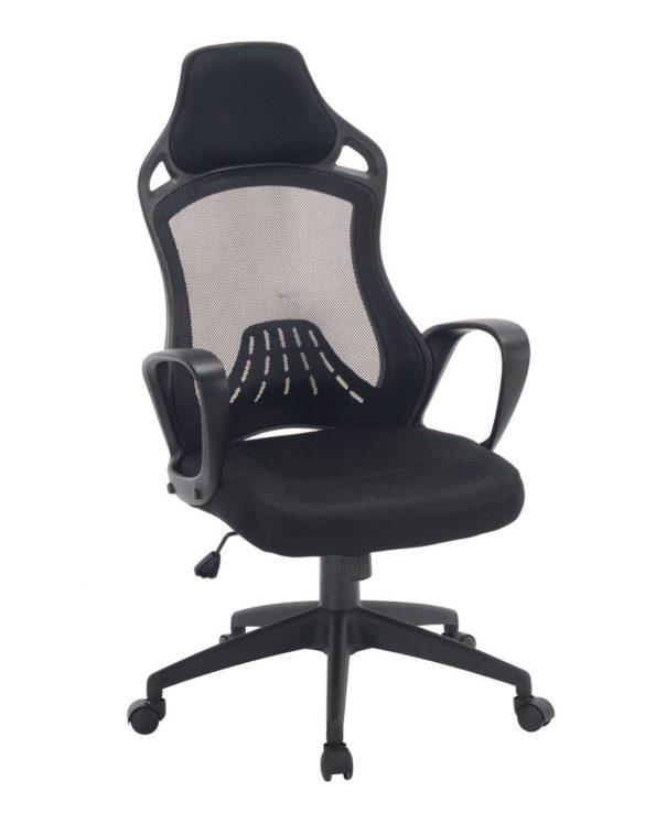 LOG Chaise Bureau Sport - Siege Baquet Noir