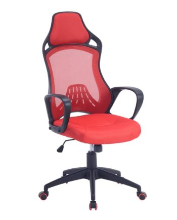 LOG Chaise Bureau Sport - Siege Baquet Rouge