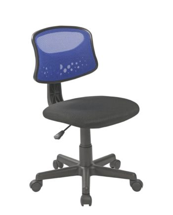 FAYA Chaise de bureau enfant - Bleu - Pas Cher
