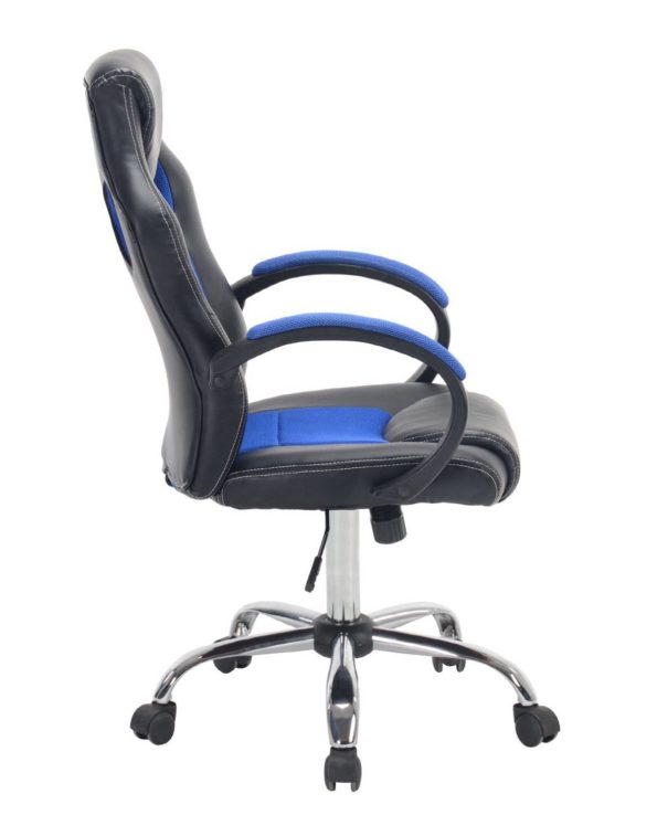 LICK Chaise Fauteuil de Bureau Racing Gamers Bleu