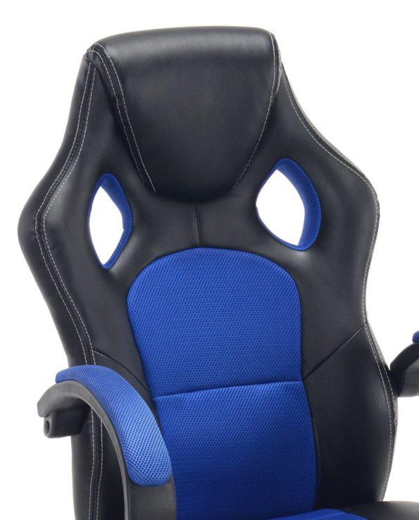 LICK Chaise Fauteuil de Bureau Racing Gaming Bleu