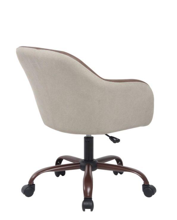 Chaise de Bureau Design Toile Couleur Sable