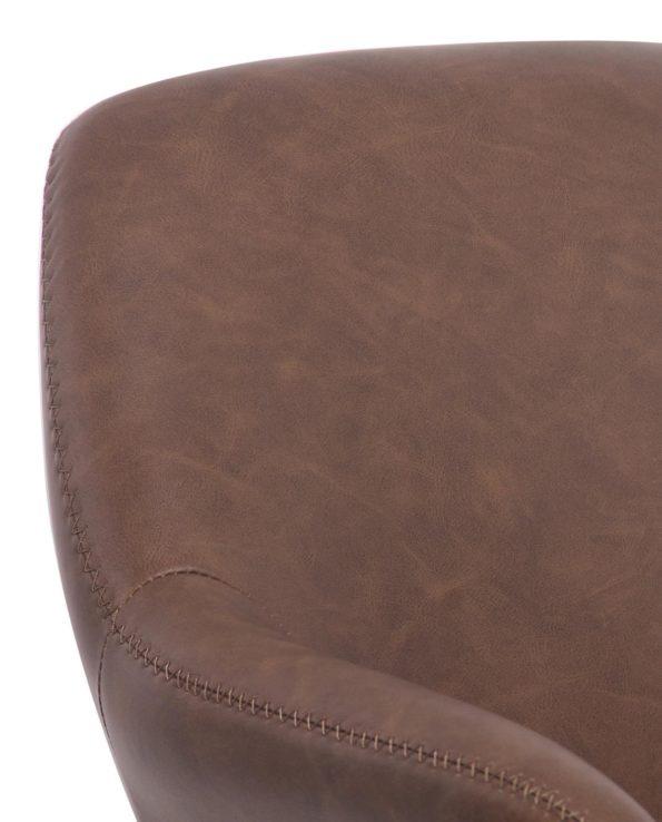 Chaise vintage pivotante années 60 - Marron Vintage