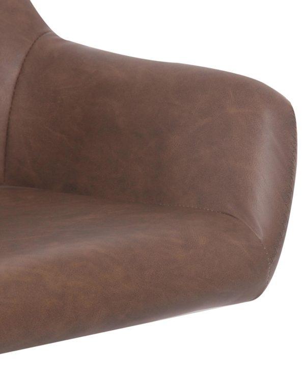 Chaise pivotante années 60 - Marron Vintage