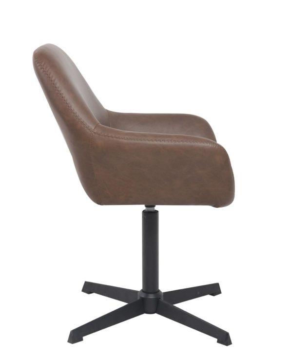 Chaise vintage pivotante années 60 - Pietement Métal