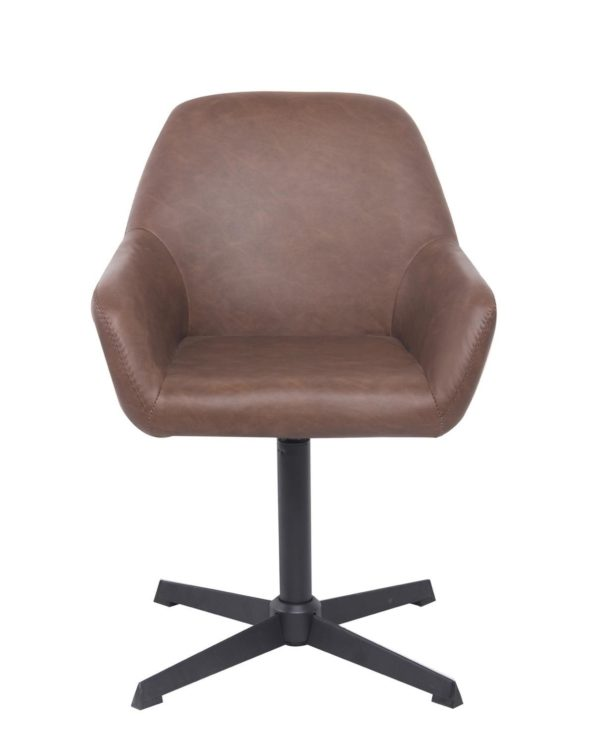 Chaise vintage pivotante CALI années 60 - Marron Vintage