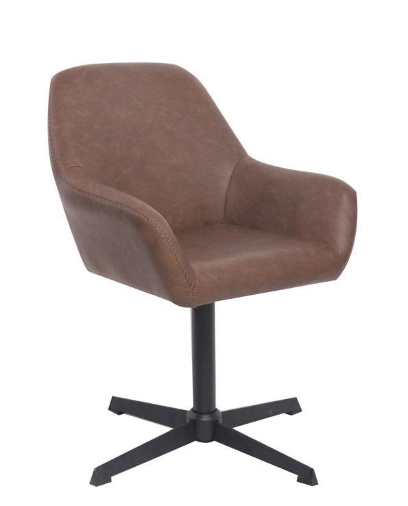 CALI Chaise vintage pivotante années 60 - Marron Vintage