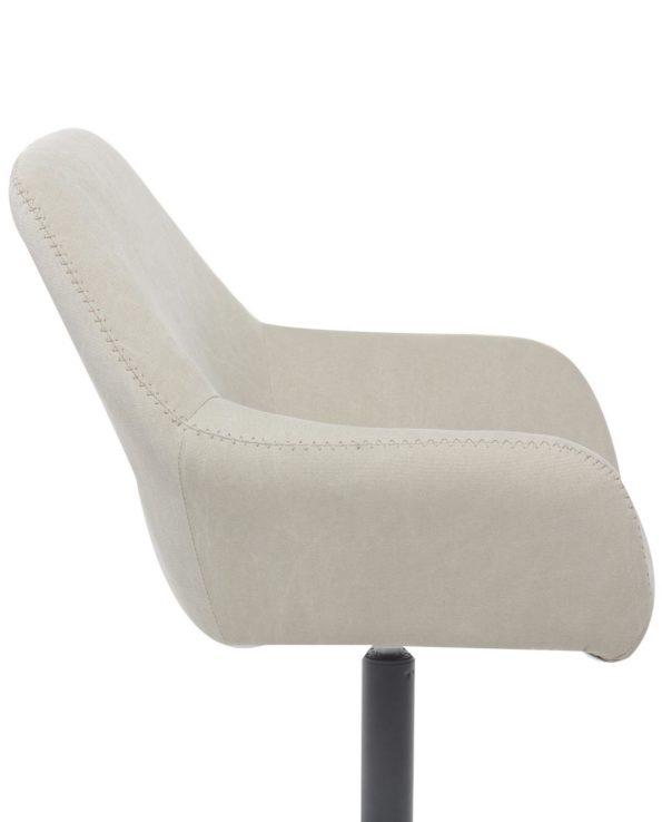 Chaise vintage pivotante Toile couleur Sable