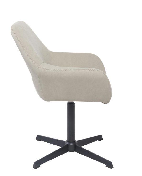 Chaise vintage pivotante CALI années 60 - Toile couleur Sable