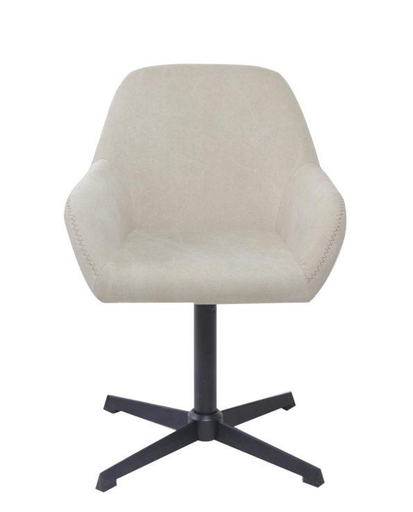 Chaise vintage pivotante années 60 - Toile couleur Sable