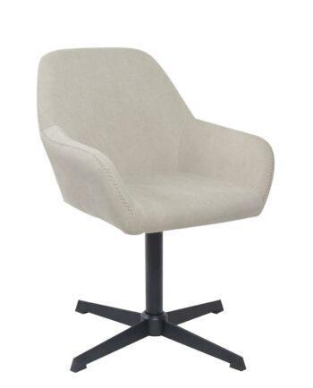 CALI Chaise vintage pivotante années 60 - Toile couleur Sable