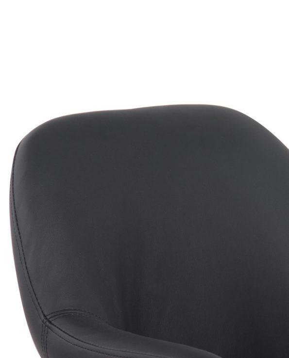 CAPA Chaise de Bureau Design - PU Noir