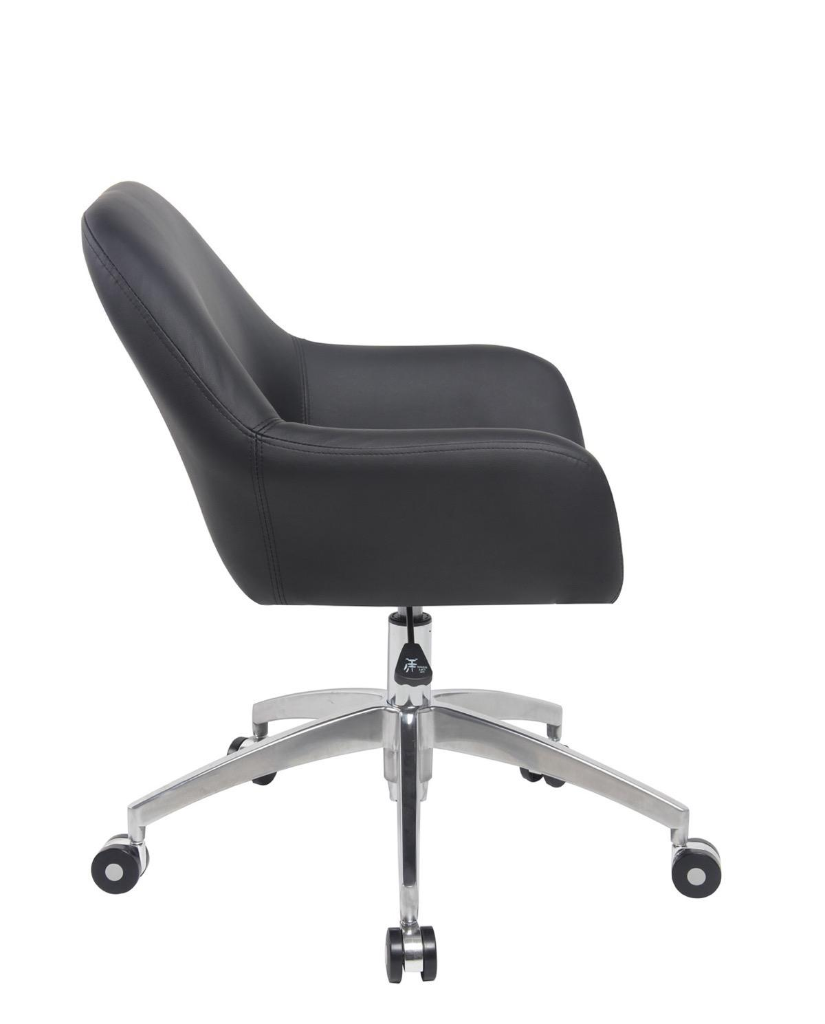 Capa chaise de bureau design pi tement alu poli for Chaise de bureau design