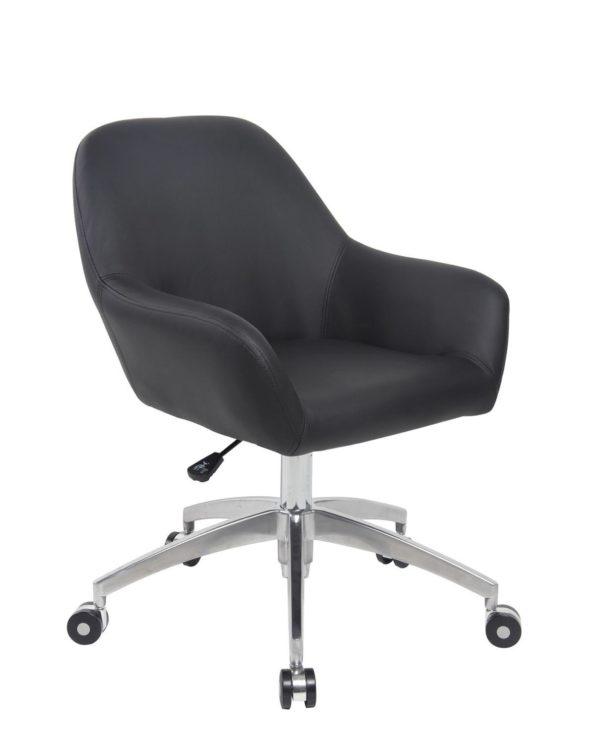 CAPA Chaise de Bureau Design piétement Alu Poli