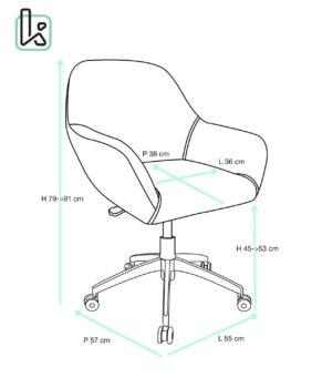 CAPA Chaise de Bureau Design - Taille