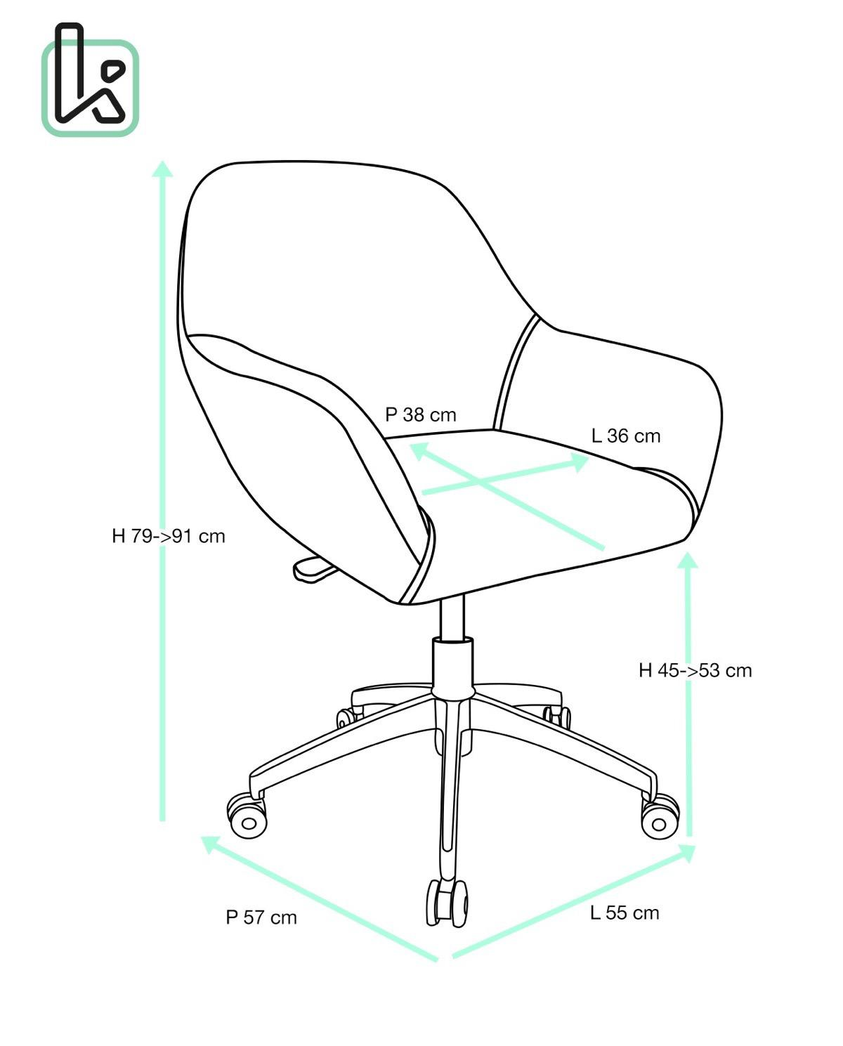 Capa chaise de bureau design pi tement alu poli for Surface de bureau par personne