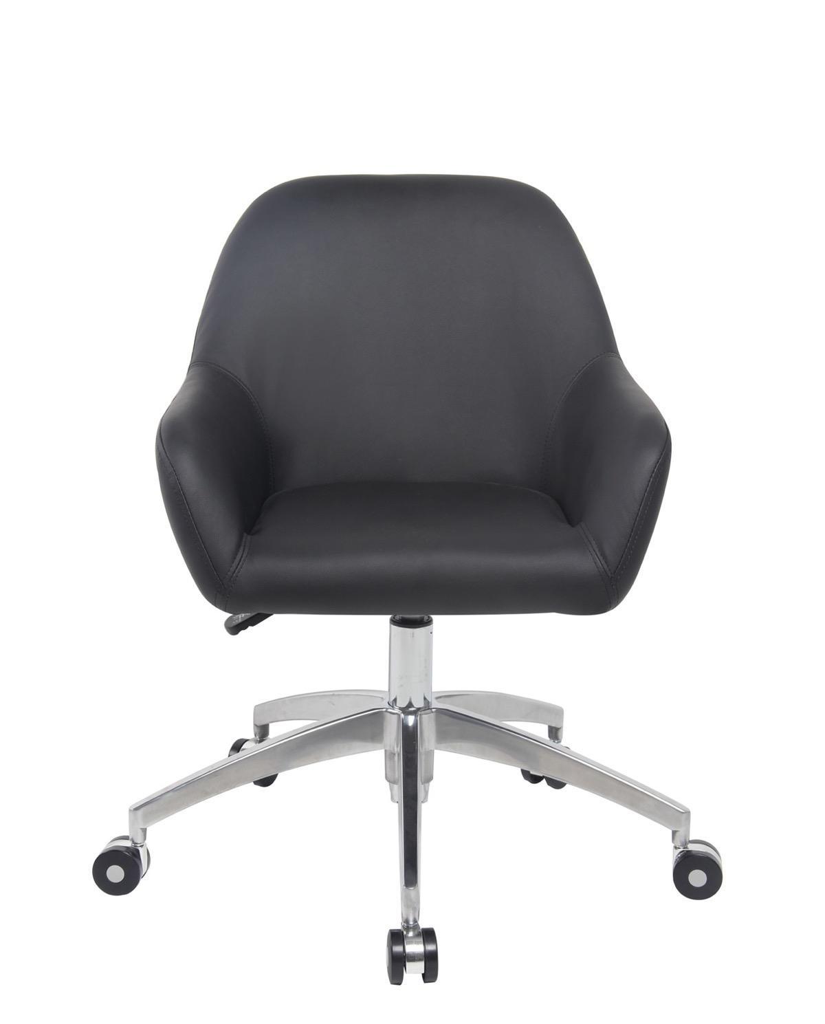 capa chaise de bureau design pi tement alu poli. Black Bedroom Furniture Sets. Home Design Ideas