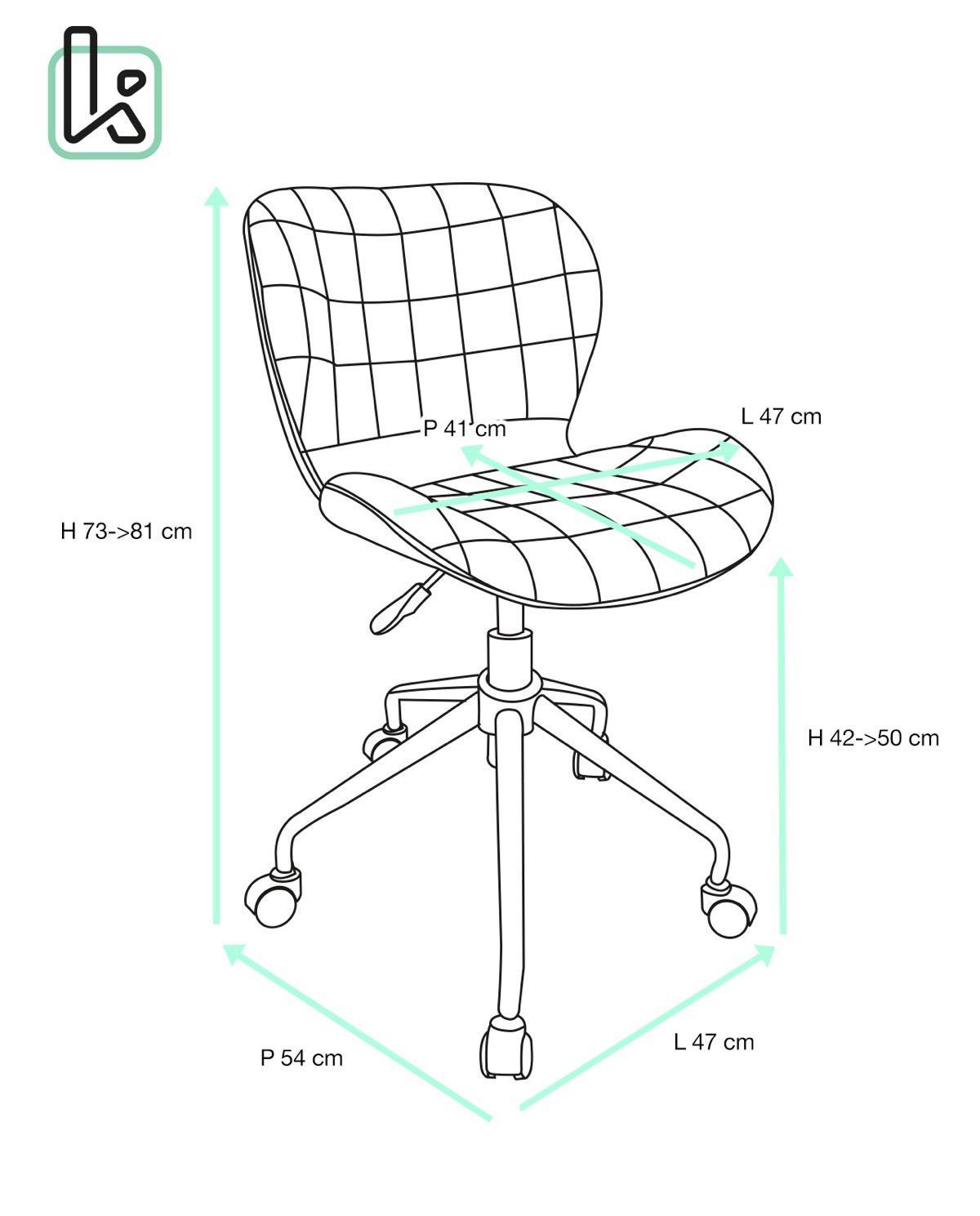 cara chaise de bureau design pivotante. Black Bedroom Furniture Sets. Home Design Ideas