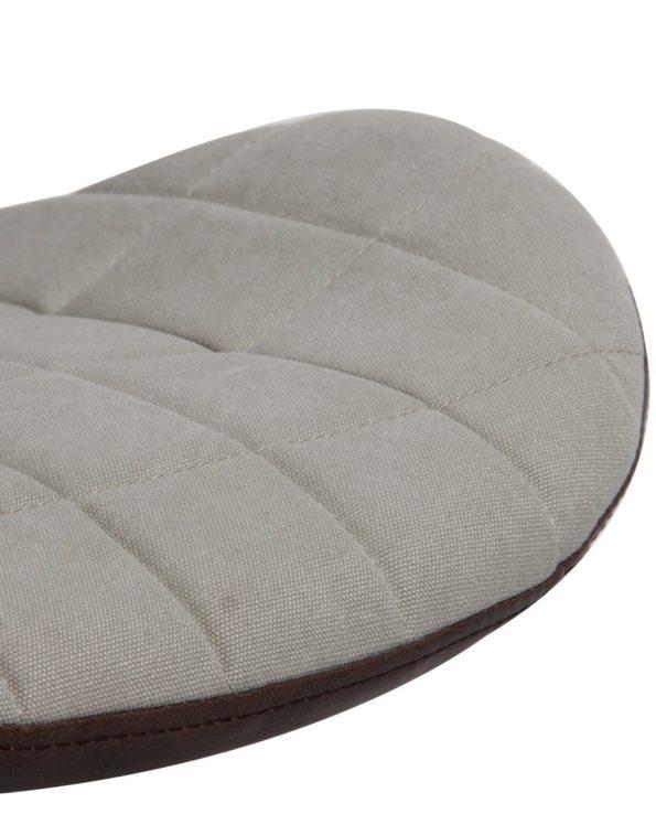 Chaise de Bureau Design Tissu Toile Sable