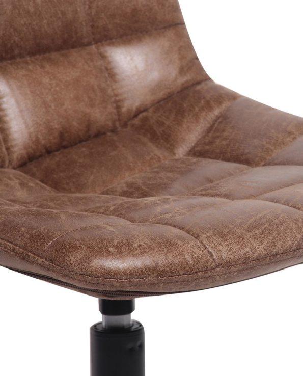 CAYA Chaise vintage matelassée PU cuir vieilli