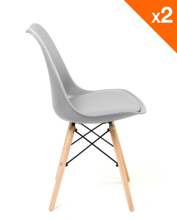 chaise cuisine scandinave - gris clair - NASI Kayelles