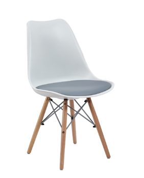 chaise-dsw-eames-coussin-blanc-gris