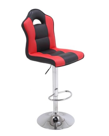 Tabouret de Bar Design racing Rouge et Noir