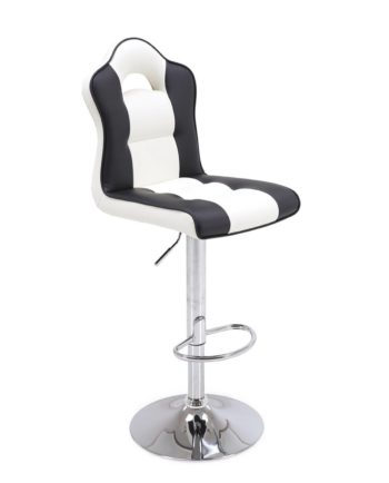 Tabouret de Bar Design racing Noir et blanc