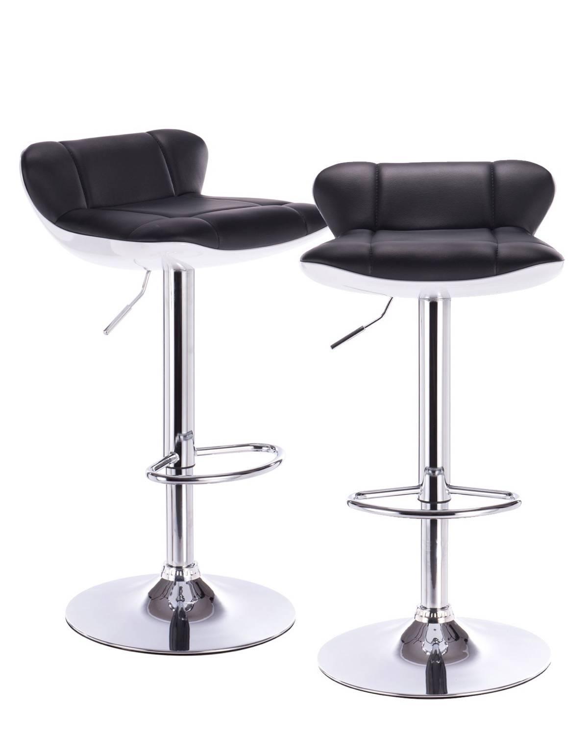 lava lot de 2 tabourets de bar pu et chrome. Black Bedroom Furniture Sets. Home Design Ideas