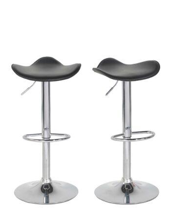 SAPA Lot de 2 chaises de Bar Chrome - Noir pas Cher