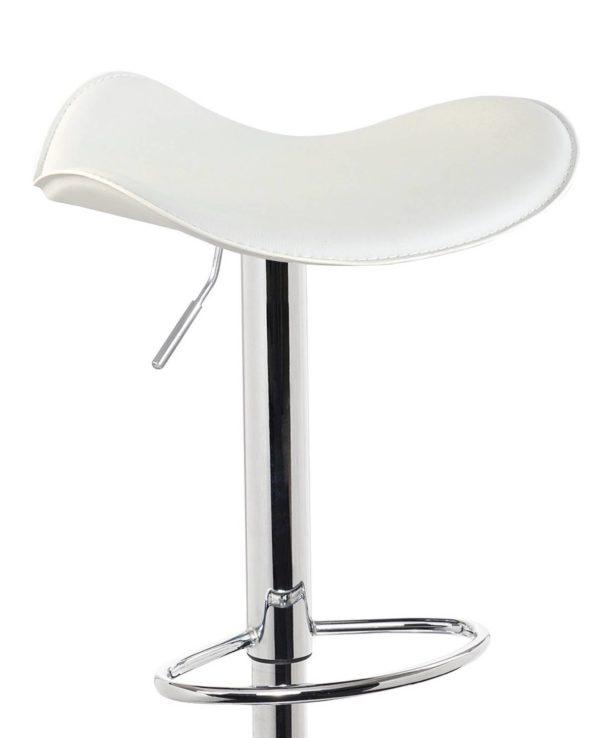 SAPA Lot de 2 chaises de Bar Chrome - pas Cher - Blanc Pas Cher