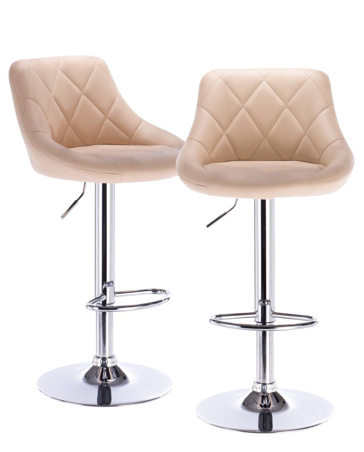 luti lot de 2 tabourets de bar matelass confort. Black Bedroom Furniture Sets. Home Design Ideas