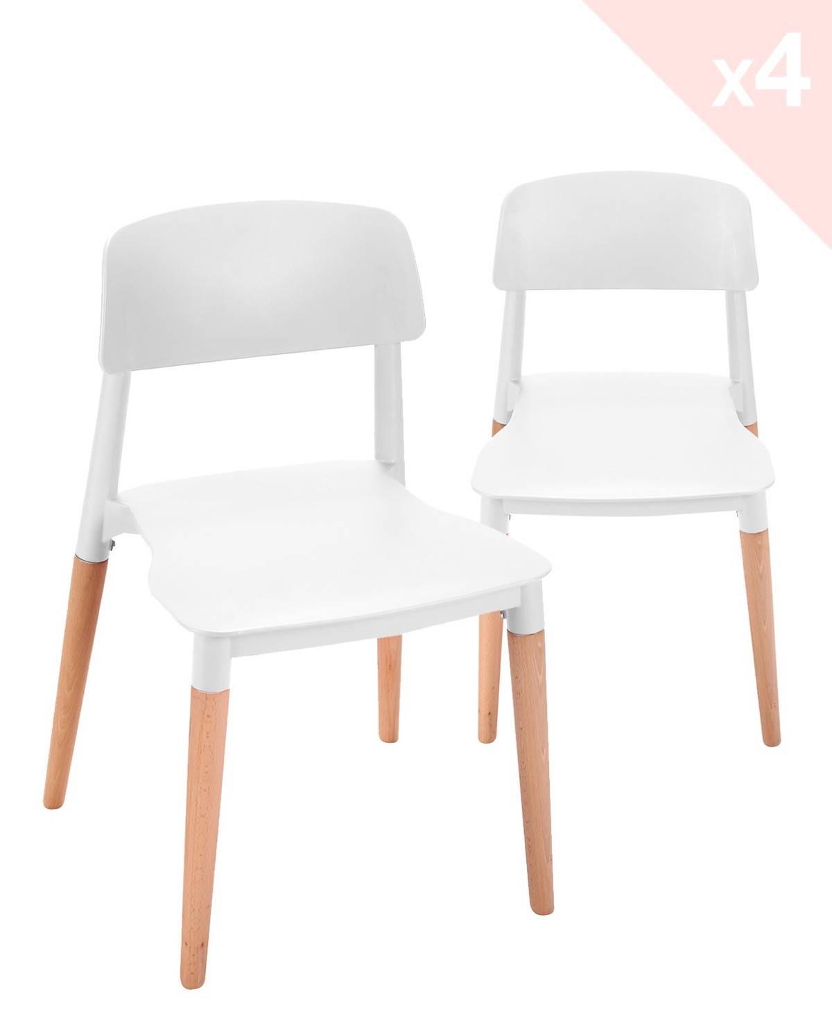 napa lot de 4 chaises cuisine design pi tement h tre. Black Bedroom Furniture Sets. Home Design Ideas