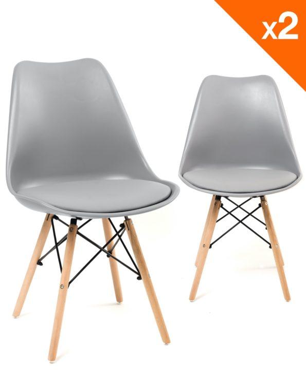 NASI chaises design confort - Gris clair - kayelles