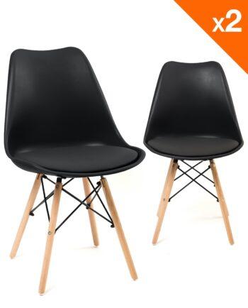 NASI Chaises design confort - Noir - Kayelles