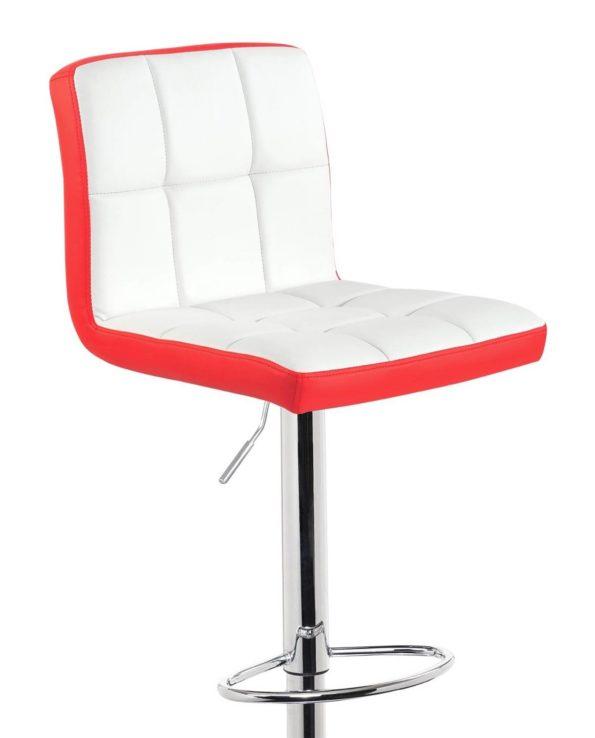 Lot de 2 chaises de bar Confort - Haut Dossier - Rouge