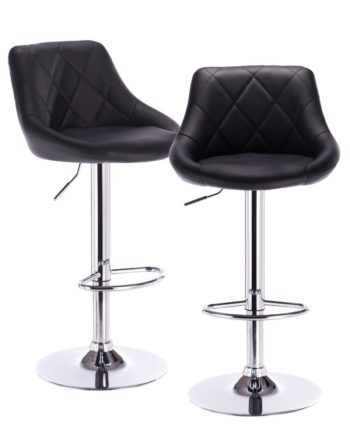 Luti Lot de 2 tabourets de Bar Confort - Noir