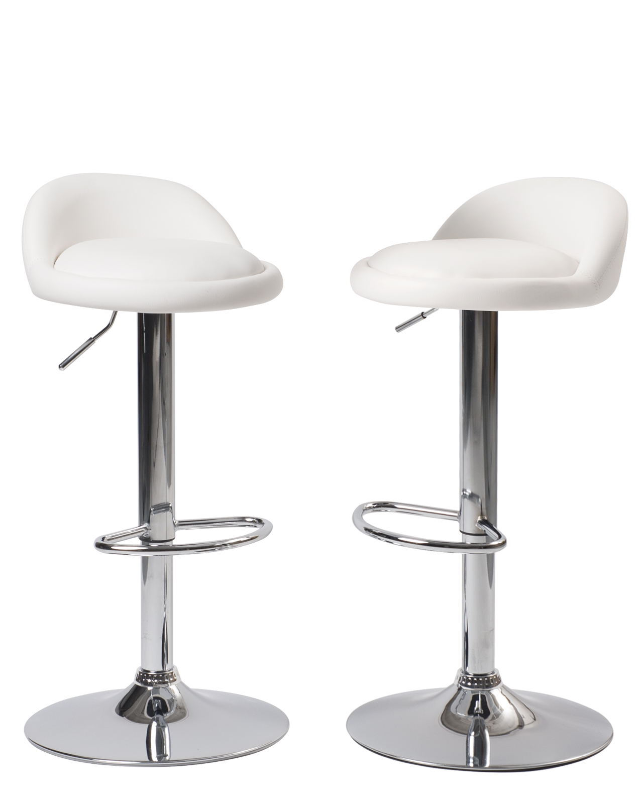 Lot Tabouret De Bar.Sati Lot De 2 Tabourets De Bar Pu Et Chrome